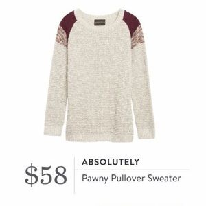 NWT Absolutely Stitch Fix Pawny Pullover Sweater
